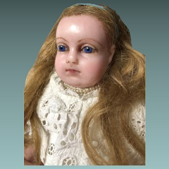 Long Haired Montanari Poured Wax Doll, 19 inches