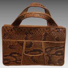 Vintage Snakeskin Hand Bag