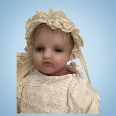 Wonderful Poured Wax Pierotti Baby Doll, 21 inches