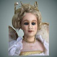 Edwardian Wax Fashion Doll Dressed as a Fairy, 15 inches
