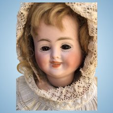 Carl Bergner Three Faced Character Doll, with Crier, c. 1880's, 12 inches tall