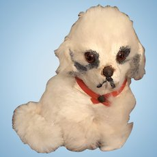 Tiny Miniature Dog for your All Bisque Dolls or French Fashions
