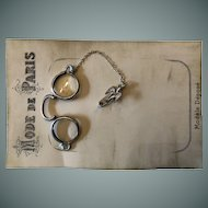 Fashion Doll Silver Pince-Nez (Glasses) with Swallow Pin.