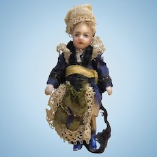 French Lilliputian All Bisque Doll
