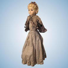Wax over Composition Doll with Molded Hairband with Bow, 22""