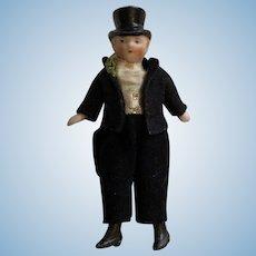 All Bisque Dapper Gentleman Doll
