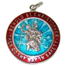 Sterling Silver St Christopher Fob, 1962.