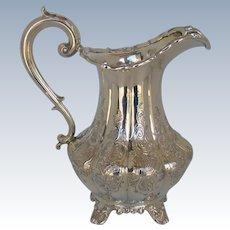 An Early Victorian Silver Milk Jug, 1839.