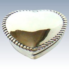 A Victorian Silver, Heart Shaped Box, With A Glass Base, 1887