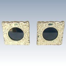 A Good Quality Pair of Vintage Silver Photograph Frames, 1941.
