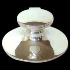 Vintage Sterling Silver Capstan Inkwell, 1921.
