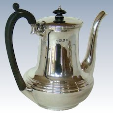 A Large Vintage Silver Coffee Pot, 1921.
