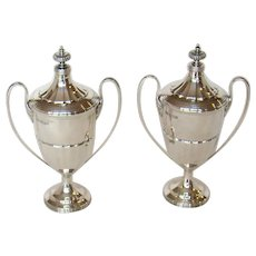 A Pair Of Vintage Sterling Silver Trophy Cups, 1925.