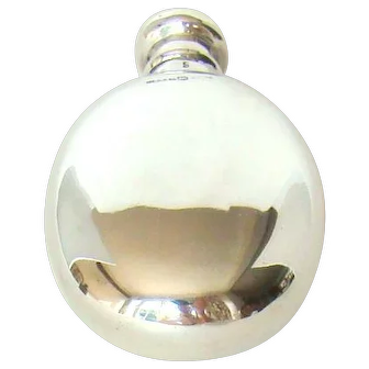 A Small Victorian Sterling Silver Hip Flask, 1870.