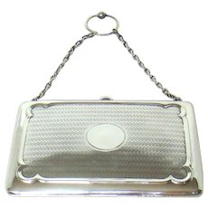 A Good Quality Antique Silver Purse/Card Case, 1910