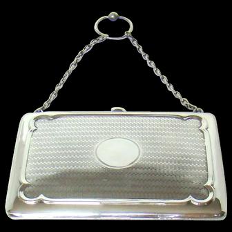 A Good Quality Antique Silver Purse/Card Case, 1910