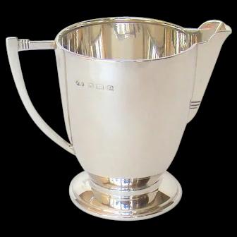 An Art Deco, Vintage Sterling Silver Cream/Milk Jug, 1936