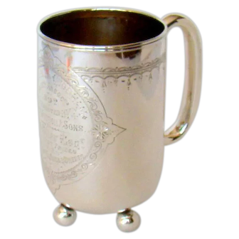 A Distinctive Antique Silver Tankard, With An Interesting History, 1881