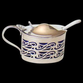 An Antique Silver Mustard Pot, 1901