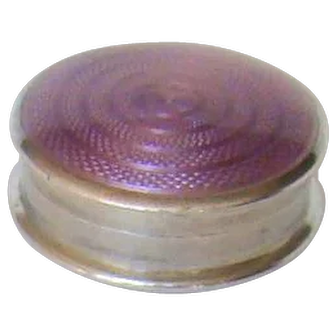 A Sterling Silver Enamelled Pill Box, 1921.