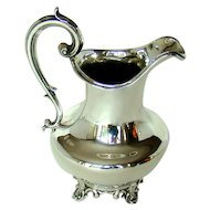 An Antique Sterling Silver Milk Jug, 1839.