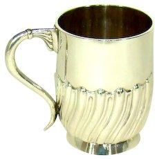 An Antique Silver Christening Mug, 1904.