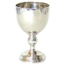 A Vintage Sterling Silver Goblet, 1931.