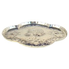 A Superb Antique Silver Dressing Table Tray, 1897.