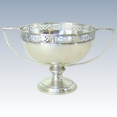 An Antique Sterling Silver Trophy/Fruit Bowl, 1914.