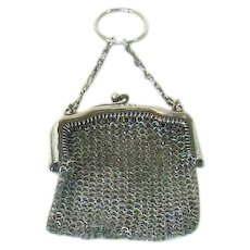 A Sovereign Sterling Silver Mesh Purse, 1920
