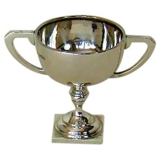 A Small Art Deco Styled, Silver Trophy Cup, 1936.