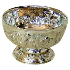 An Antique English Silver Rose Bowl, 1903