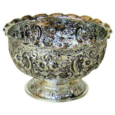 A Victorian Silver Rose Bowl, 1899.