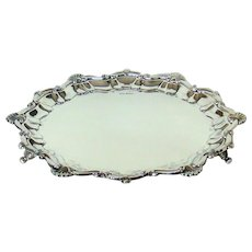 A Large And Heavy Antique Sterling Silver Salver, 1897.