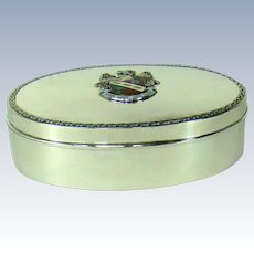 A Unique Antique Sterling Silver Jewellery Box, 1919.