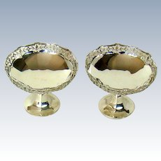 An Antique Pair Of Sterling Silver Bon Bon Dishes, 1912.