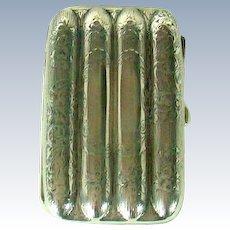 A Heavy Antique English Silver Cigar Case, 1903.