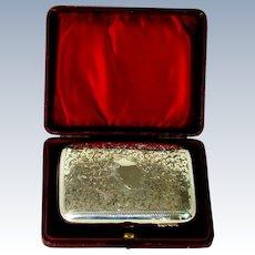 An Antique Silver Cigar Case, 1902