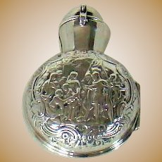 An Antique Sterling Silver Cased Perfume Bottle, 1898.