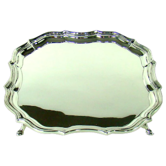 An Antique English Silver Salver, 1912.