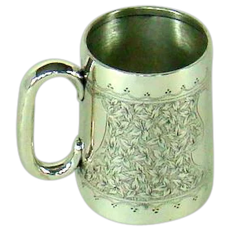 A Victorian Antique Silver Christening Mug, 1900.