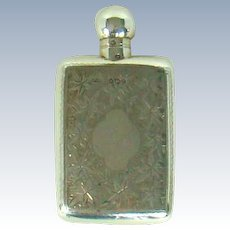 An Antique Sterling Silver, Perfume Bottle, 1896.