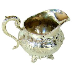 An Early Victorian Sterling Silver Jug, 1845.