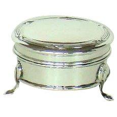 An Antique Silver Circular Jewellery Box, 1911.