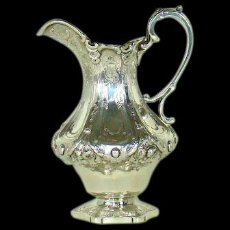 An Antique Scottish Silver Milk Jug, 1855.