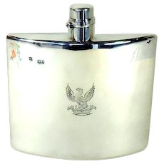 Victorian Silver Hip Flask, 1888.