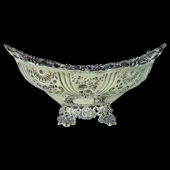 Superb Victorian Sterling Silver Fruit Bowl, 1893.