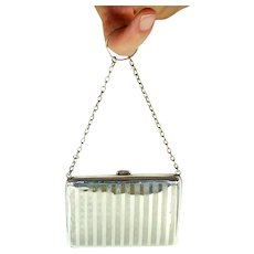 Art Deco Styled Sterling Silver Purse/Aide Memoire, 1921.
