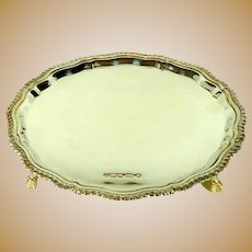 Vintage Sterling Silver Card Tray, 2000.