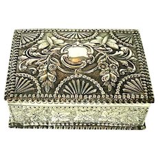 Distinctive Antique Silver Trinket/Jewellery Box, 1883.